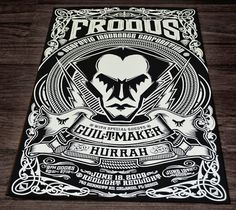 Pale Horse Design #frodus #gigposters #design #gigs #palehorse #poster #concerts