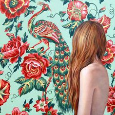 Ballad Of — Article #girl #rose #painting #peacock #wallpaper