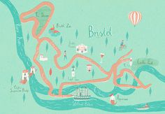 Illustrated map of Bristol (A3) #illustration #maps