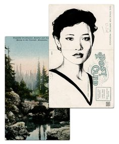 Twin Peaks postcard art by Paul Willoughby. #postcard