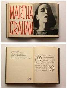 Martha Graham by Merle Armitage | AnOther | Loves #font #book #martha #layout #graham