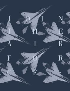Shock and Awe Eric Orr #shock #flight #air #war #design #graphic #force #military #jets #planes #join #blue #awe #typography
