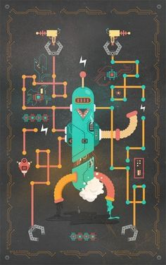 It's Complicated, Robot - Vector Graphics - Creattica #robot #illustrator #complicated