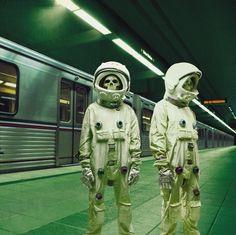 W E L L ※ F E D #train #astronauts #skeletons #subway #skulls #york #nyc #new