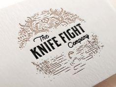 Mock fight #antlers #lettering #illustration #logo #typography