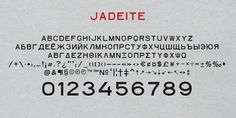 Jadeite Fonts by TEKNIKE » Fontspring - #jadeite #typeface #font #kikis #teknike