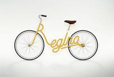 Valerie Jar #illustration #yellow #bike #typography
