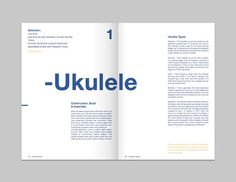 Matt Jones. Design Blog #design #typography #book #booklet #graphic #ukulele