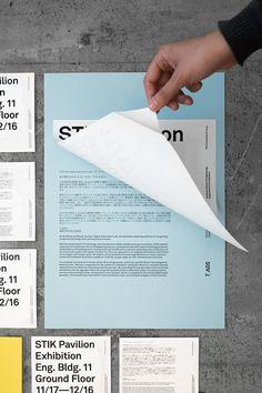 STIK Pavilion Exhibition on Behance #typography #identity #color