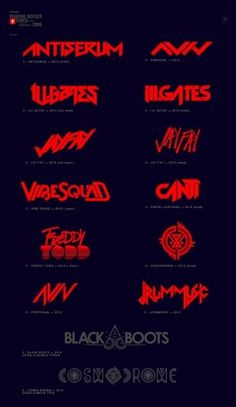 Logos / Covers on the Behance Network #red #music #logo #band #typography