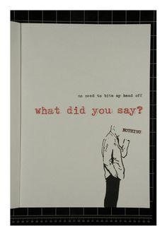 Nothing #typography #book #nothing #typewriter #letraset