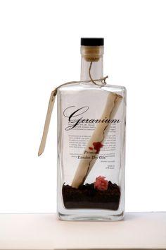 Geranium Gin on Behance #gin #geranium