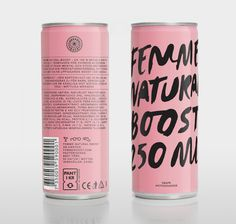 Femme Natural Boost #packaging #typeography #can