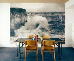 Ace Hotel London #interior #blue #kitchen #waves
