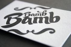 Bamb Bamb letterpress business card #card #lettering #business