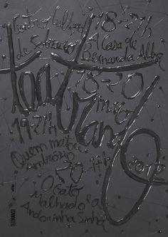 Typeverything.com -Teatrando 2012 by Sergio Alves. #type #mixed media