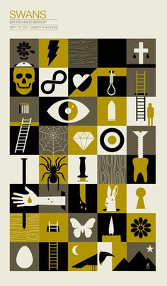 GigPosters.com - Swans #gigposter #screenprint