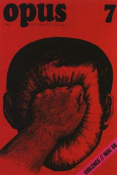 Roland Topor, Opus International (Issue 7); Violence // May, 1968. #vintage