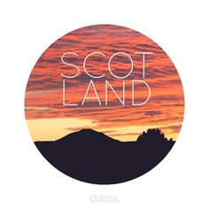 Scotland - http://cursa.co #sun #photo #design #photography #scotland #type #sunset #typography