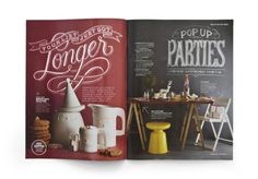 Magazine spread #typography #magazine #editorial