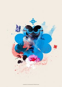 Flower Language on the Behance Network #graphic design #design #illustration #typography #ink