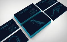 BUSINESS CARDS #visual #branding #language #dots #magnetic #identity #logo