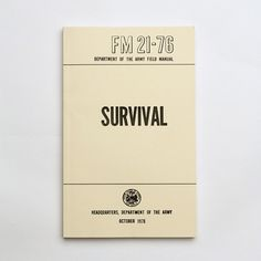 Best Made Company — US Army Field Manuals (set of three) #type #book #typography