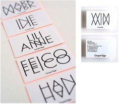 Carpet Sign : Studio Laucke Siebein / Bench.li #business #mirror #double #type #cards