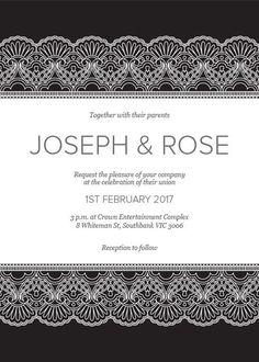 White Lace - Wedding Invitation #paperlust #weddinginvitation #weddinginspiration #cards #paper #design #digitalcard