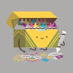 Be Creative - Philip Tseng #crayons #philip #character #tseng