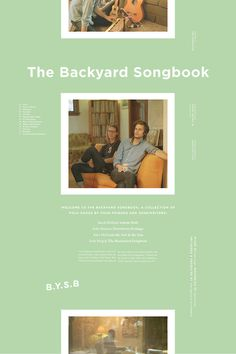 B.Y.S.B #modern #gig #poster #music #type #layout #band #green