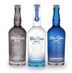 Blue Chair Bay rum bottle design