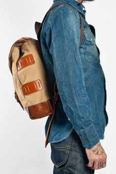 tumblr_lwh7wlGGdO1qau50i.jpg (467×700) #fashion #denim #backpack