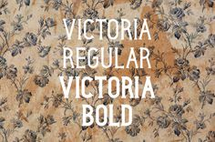 Victoria Typeface on Behance