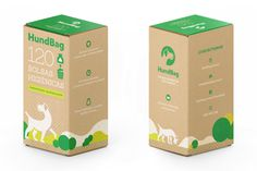 Packaging for Hundbag, dog waste bags. #packaging #box #ecology #dog #bag #craft #green #illustration #print