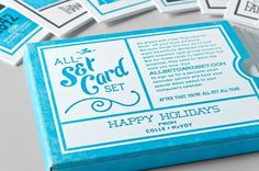 design work life » Colle + McVoy All-Set Card Set #holidays #happy #cards