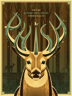 DKNG » Store » Phish (Blossom Music Center) #deer #design #screenprint #illustration #phish