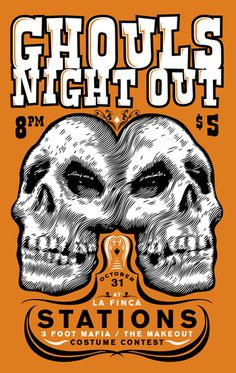 Ghouls Night Out - Gig Poster