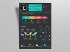 Free Creative Infographic Resume Template for Any Job Opportunity