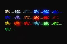 Peter-Liversidge-Etc-2011-Neon-Art #art #neon