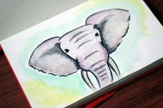 photo #watercolor #elephant