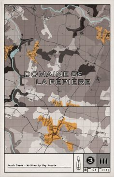 3 Bottles — March issue #wine #cover #print #map
