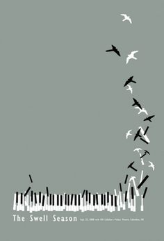 Baubauhaus. #vector #piano #swell #birds #illustration #season