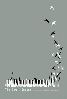 Baubauhaus. #vector #piano #swell #birds #illustration #season