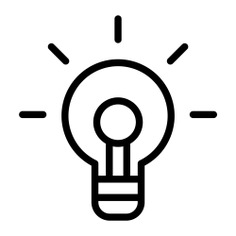 See more icon inspiration related to lightbulb, bulb, business and finance, inspiration, creativity, creative, electronics, lighting, education, light bulb and business on Flaticon.