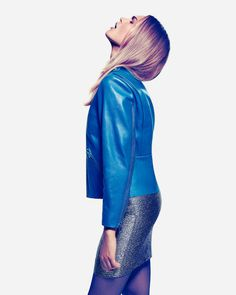 Veneda Budny by Gyslain Yarhi for Grazia Germany #fashion #blue #photo #beauty