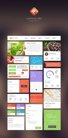 free ui kits for_designers_22 #dashboard