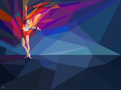 Yahoo! 2012 Games Coverage #illustration #sports #geometric