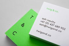 Twig & Co. by Mildred & Duck #business #card #logo