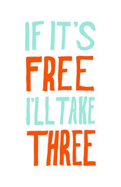 If Its Free! #typography #hand lettering #michaeltcarey